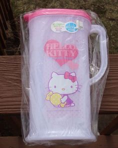 Hello Kitty Plastic Pitcher with Handle - New - RARE in USA - from Japan