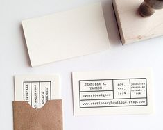 Confetti Business Card Stamp by stationeryboutique on Etsy