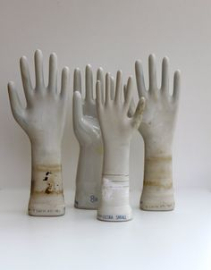 Collection of  Porcelain Glove Molds