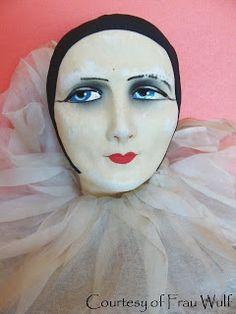 Frau Wulf's Boudoir Doll Blog: French Pierrot Head