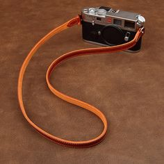 Handmade Genuine Real Leather Camera Shoulder Neck Strap for EVIL Film Camera 57 Leather Camera Strap, Tan Leather, Headphones, Shoulder, Handmade, Headpieces, Hand Made, Ear Phones, Handarbeit
