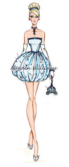 The Disney Divas collection by Hayden Williams: Cinderella by Fashion_Luva. Disney Princesses all grown up. Hayden Williams, Kida Disney, Princesas Disney, Disney Art, Disney Princesses, Cinderella Disney, Cinderella Sketch, Cinderella Princess, Cinderella Costume