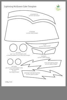 Lightning Mcqueen Cake Templates Bakery Ideas Valentine Box Kids Corner