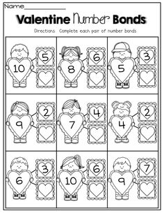 Valentine Number Bonds!