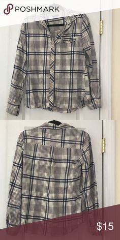BDG Flannel button down Soft BDG flannel button down shirt in blue and white plaid pattern. Good condition. BDG Tops Button Down Shirts