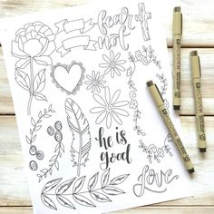 "Get your free Bible Journaling Elements Printable! Anyone can do Bible journaling! Even if you are not an ""artistic"" person! Here are four ways that even the un-artistic can create a beautiful journaling bible page! Scripture Study, Bible Art, Bible Scriptures, Scripture Journal, Hymn Art, Prayer Journals, Bible Quotes, Quotes Quotes, Bible Drawing"