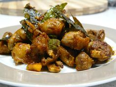 Chicken Heart and Gizzard (Giblet) Fry