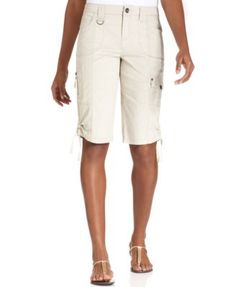 Style & Co. Tummy-Control Cargo Bermuda Shorts, Only at Macy's