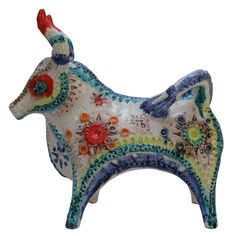 Italian Pottery Bull, Bitossi for Raymor, Circa 1960's