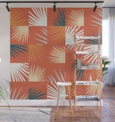 Desert Tropical 01 Wall Mural by The Old Art Studio - X Removable Wall Murals, Old Art, Second Floor, Decor Styles, Vibrant Colors, Deserts, Old Things, Tropical, Wall Decor