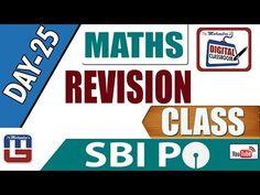 REVISION CLASS    MATHS   DAY - 25   DIGITAL CLASS   SBI PO 2017  