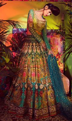icu ~ 48218217 Pin on Indian outfits ~ Sep 2019 - Nomi Ansari Latest Heavy Embroidered Bridal Dresses Collection consists of colorful beautifully embellished heavy bridal lehengas, sarees, gowns. Latest Bridal Dresses, Bridal Mehndi Dresses, Indian Bridal Outfits, Indian Bridal Wear, Pakistani Wedding Dresses, Bridal Gowns, Bridal Sarees, Asian Bridal Dresses, Pakistani Mehndi Dress