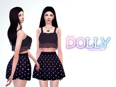 Dolly skirt  Found in TSR Category 'Sims 4 Female Everyday'