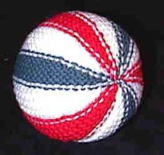 This is a great way to use up scraps of yarn.  I've taught many kids how to knit this ball.