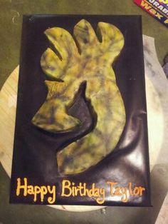 Browning camo Birthday cake