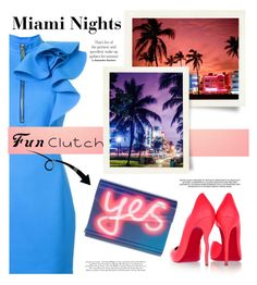 """Untitled #495"" by kiad816 ❤ liked on Polyvore featuring Christian Louboutin, Dsquared2, Jimmy Choo and South Beach"
