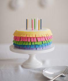 Colorful Fringe Birthday Cake