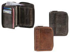 camel active MELBOURNE - Leder Geldbörse Geldbeutel Portemonnaie Hochformat - braun oder schwarz