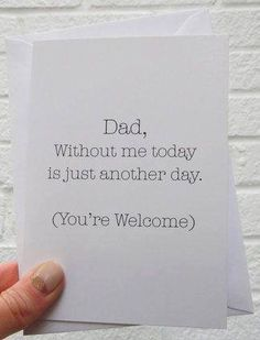 Funny Father's Day Cards That Are Better Than Dad Jokes clever fathers day gifts, daddy gifts, fathers day crafts diy Father's Day Cards That Are Better Than Dad Jokes Funny Fathers Day Card, Fathers Day Crafts, Fathers Day Ideas, Funny Fathers Day Gifts, Baby Fathers Day Gift, Funny Gifts, Diy Father's Day Gifts, Father's Day Diy, Daddy Gifts