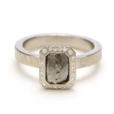 gray diamond engagement ring - Google Search