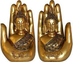 "7"" Buddha in Hand (set of 2)"