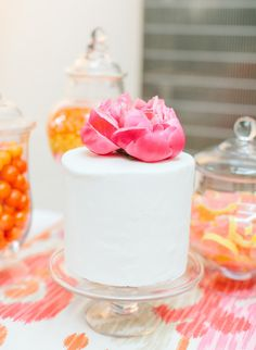 Pink & Orange Cake | Photography by Jodi Miller Photography / jodimillerphotography.com