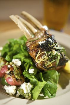 grilled rack of lamb with pesto