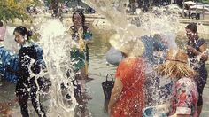 Songkran Water Festival in Chiang Mai, Thailand. #travel
