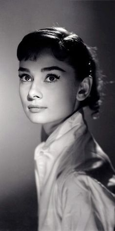 """Audrey Hepburn - Photograph by Jack Cardiff, 1956.    """"Audrey had a perfect face and her ballet training made her walk with sleek grace. She radiated elegance. It was a joy to work with her on War and Peace."""" -Jack Cardiff:"""