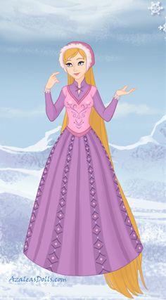 Rapunzel made using Snow Queen game by Azalea's Dolls Disney Princess Art, Disney Nerd, Disney Tangled, Cool Cartoons, Disney Cartoons, Time Cartoon, Cartoon Fun, Create Your Own Character, Azalea Dress Up