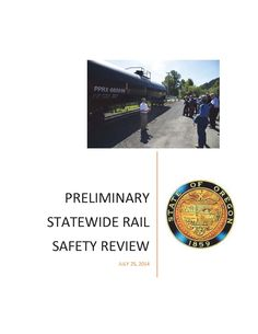 Preliminary statewide rail safety review by the Oregon Office of the Governor.