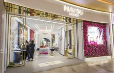 Maysu Cosmetics store concept with Spa. Crafted by Design Overlay. #Retail #Retail Design #Cosmetic Company Work, Overlays, Spa, Concept, Cosmetics, Retail Design, Store, Home Decor, Decoration Home