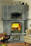 Tulikivi soapstone fireplace and bake oven