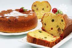 Plum-cake de frutas escarchadas de aceite de oliva Thermomix Chocolate Thermomix, Plum Cake, Croissants, French Toast, Muffin, Pudding, Breakfast, Desserts, Food