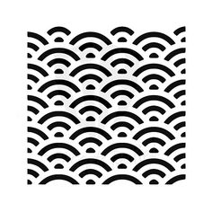 Seamless Ocean Waves Stencil - Multiple Sizes and Variations Available Black White Pattern, White Patterns, Black And White, Geometric Patterns, Wave Stencil, Welding Design, Geometric Stencil, White Texture, Painting Patterns