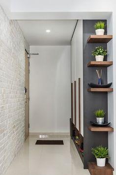 Solução interessante para decorar um espaço sem uso e colocar plantas em espaços pequenos