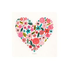 Oopsy Daisy Painted Heart Canvas Art & Reviews | Wayfair