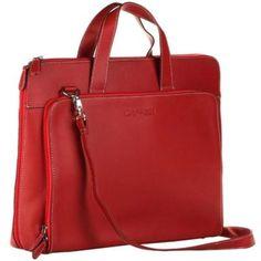 bolsas de couro vermelha femininas para notebook