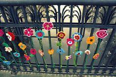 Flower bridge in Slupsk (Pl) #crochet #urbanknitting