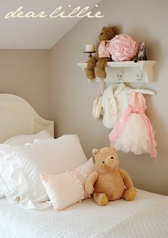 Little girls room.Add a bit more of Blush Pink/Pinky Peach Girl Nursery, Girls Bedroom, Bedroom Decor, Nursery Ideas, Room Ideas, Little Girl Rooms, Little Girls, Sweet Girls, Dear Lillie