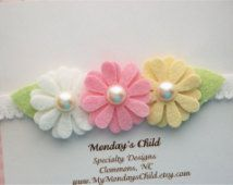felt flowers headbands - Buscar con Google