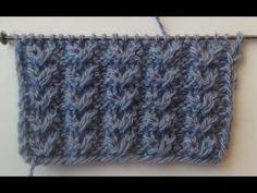 Узор спицами №3 АЖУРНЫЕ ГУСИНЫЕ ЛАПКИ. Knitting pattern - YouTube