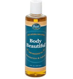 Baar Products exclusive Body Beautiful Massage Oil and Skin Lotion is made from pure Extra Virgin Olive Oil, Peanut Oil and Lanolin. This product is all natural and unsurpassed in its quality. Maintain your skin's vitality; moisturize and nourish your skin for a healthy complexion all over. Moisturizes and nourishes your skin.