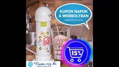 Tudjuk hogyan lesz és mitől, finom a csapvíz. Víztisztító kupon napok! Soap, Personal Care, Bottle, Self Care, Personal Hygiene, Flask, Bar Soap, Soaps, Jars