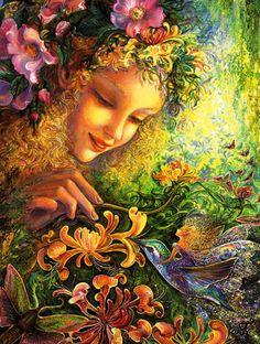 Josephine Wall Honey Suckles are for Generosity - Thank You Card