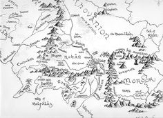 Map of the middle earth by Shiva-Anarion on DeviantArt