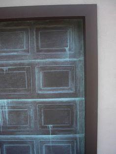 Garage Door Painted Like Patina Copper | Everything I Create - Paint Garage Doors To Look Like Wood