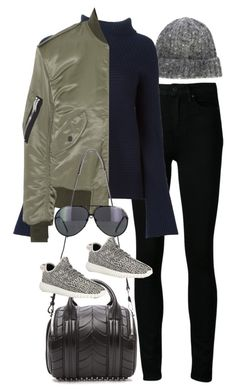 """Inspired outfit with a bomber jacket"" by pagesbyhayley ❤ liked on Polyvore featuring Our Legacy, Paige Denim, Maison Margiela, Yves Saint Laurent, Alexander Wang, adidas and Porsche"