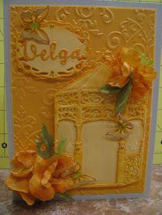 Flower greeting card handmade paper flowers lace spellbinders flower greeting card handmade silk flowers spellbinders dies m4hsunfo