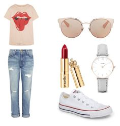 A fashion look from August 2017 featuring lips t shirt, mid rise boyfriend jeans and plimsoll shoes. Browse and shop related looks. Plimsolls, Boyfriend Jeans, Christian Dior, Converse, Fashion Looks, Polyvore, T Shirt, Shopping